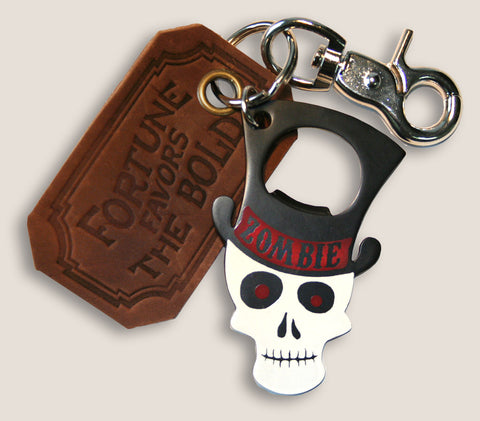 Zombie - The Gentleman's Bottle Opener & Key Ring