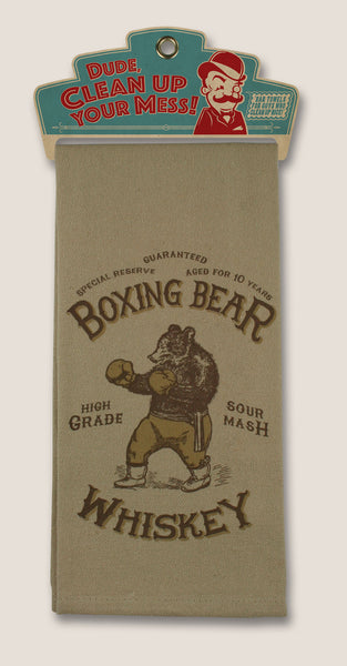Boxing Bear - Bar Towel