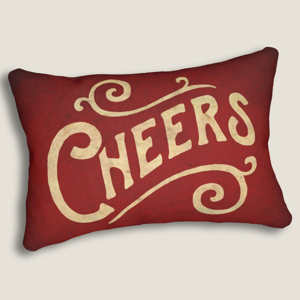 "Cheers - 14""x20"" Lumbar Pillow by LCKY JACK - Cocktail pillow, Bar pillow, cute accent pillow"