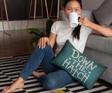 "Down the Hatch - 14""x20"" Lumbar Pillow by LCKY JACK - Cocktail pillow, Bar pillow, cute accent pillow"