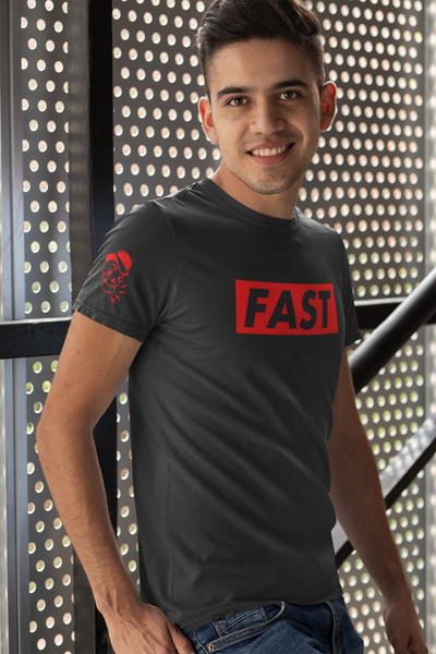 FAST by LCKY JACK - T-shirt (unisex) retro style tee shirt, sexy tee, motorcycle shirt, running tee, biking shirt