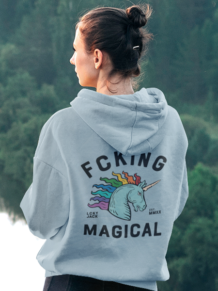 Fcking Magical - by LCKY JACK (for Trixie & Milo) - Hoodie, rainbow, unicorn, LGBTQ, pride, fantasy