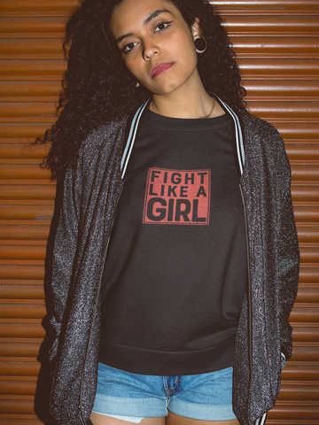 Fight Like A Girl - by LCKY JACK - cute shirt, girl power, great work out tee, Unisex Jersey Short Sleeve Tee, distressed vintage