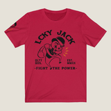 Fight the Power by LCKY JACK - T-shirt (unisex) retro style tee shirt Trixie & Milo boxing derby design