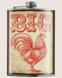 Big Cock- Hip Flask Classic barware by Trixie & Milo. Pride gift. A perfect gift for men- creative barware idea, or bachelorette party gift.
