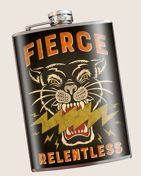 Fierce/Relentless- Hip Flask Classic & Cool barware by Trixie & Milo