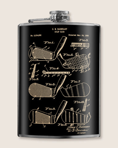 Golf Club Diagram - Golfing flask