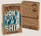 Don't Give Up the Ship- Hip Flask Classic barware by Trixie & Milo. A perfect gift for men- creative barware idea, or bachelorette party gift.