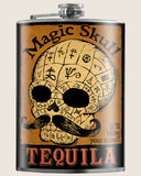 Magic Skull Tequila- Hip Flask Classic barware by Trixie & Milo. A perfect gift for tequila lovers- creative barware idea, or bachelorette party gift.