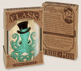 Gentleman Octopus- Hip Flask Classic barware by Trixie & Milo. Steampunk gift. A perfect gift for men- creative barware idea, or bachelorette party gift.