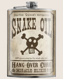 Snake Oil- Hip Flask Classic barware by Trixie & Milo. A perfect gift for men- creative barware idea, or bachelorette party gift.