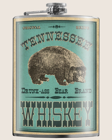 Drunk Bear Tennessee Whiskey - Flask