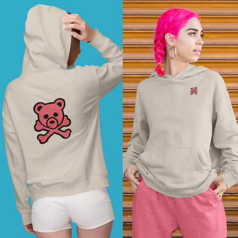 Hoochie Bear - LCKY JACK (for Trixie & Milo) - Hoodie, cute bear, pink, skull and bones, pirate bear, girls style