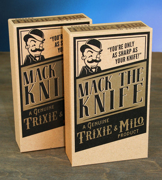 Black Cat- Mack the Knife Pocket Knife by Trixie & Milo. Tools, Man Gifts
