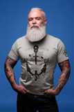 Navy 1775 - LCKY JACK - T shirt (unisex) gray tee shirt retro style fish and anchor classic Trixie and Milo by Lucky Jack