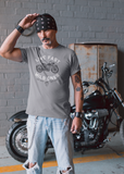 Live Fast, Wild Ones - LCKY JACK Unisex Heavy Cotton Tee, motorcycle t shirt, retro vintage style, antique motorcycle 1945