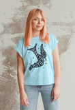 Love, Faith, Truth & Loyalty Bird - Unisex Heavy Cotton Tee, inspirational, vintage style, cute t shirt, swallow tattoo style