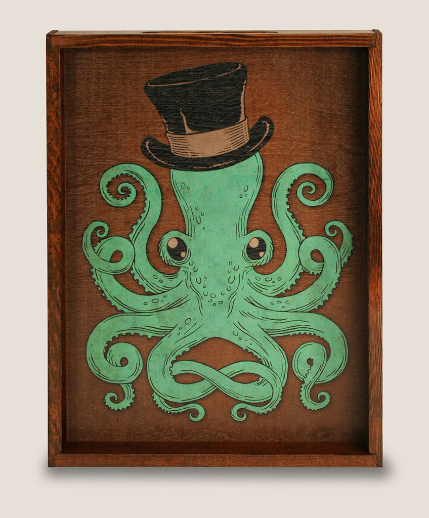 Famous Gentleman Octopus - Large Serving Tray | Trixie & Milo LY67
