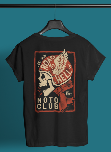 "Moto Club ""Road to Hell"" - LCKY JACK - T Shirt (unisex)"