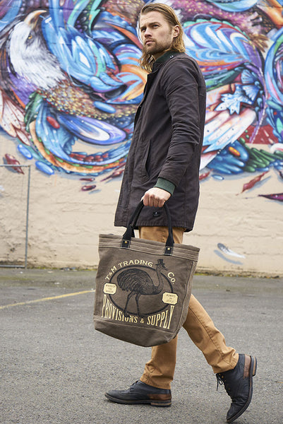 The Classic Market Tote - TopHat Ostrich