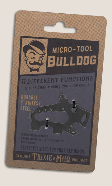 Key chain Bulldog tool - Micro tool by Trixie & Milo. Tools for key ring, great gifts for him