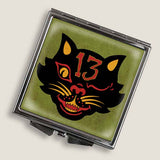 Black Cat 13 - Square Mirror Compact