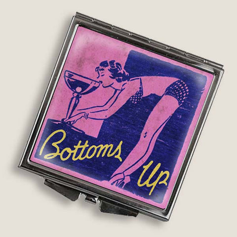 Bottom's Up - Square Mirror Compact
