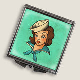 Sailor Girl - Square Mirror Compact