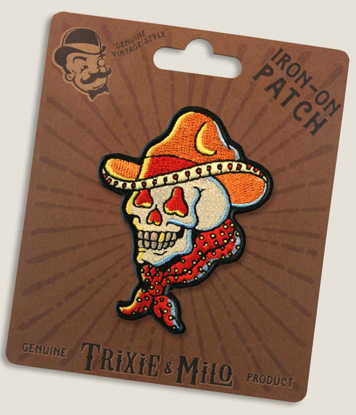 Tattoo Cowboy Skull - Iron-On Patch