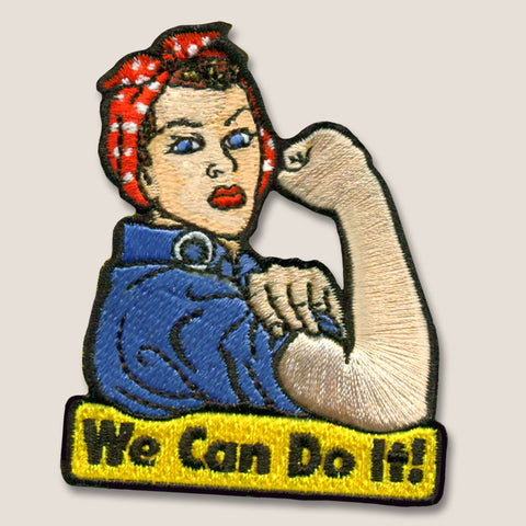 """We Can Do It"" Rosie the Riveter - Iron-On Patch"
