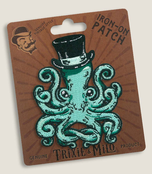 Gentleman Octopus - Iron-On Patch