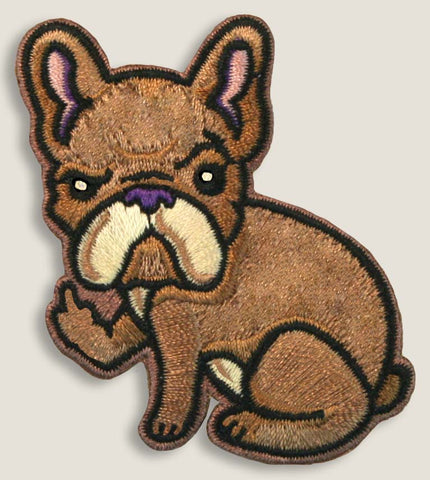 Rude Frenchie - Iron-On Patch
