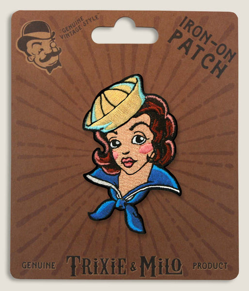 Tattoo Sailor Girl - Iron-On Patch