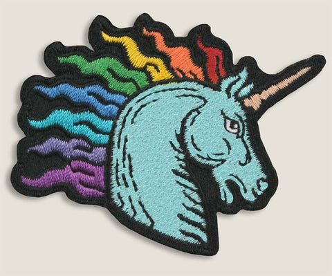 Rainbow Unicorn - Iron-On Patch