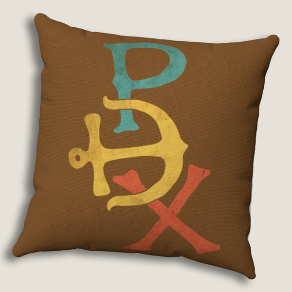 "PDX (Portland) - Throw Pillow by LCKY JACK, 14""x14"", Portland Oregon, Stumptown, Pacific Northwest"