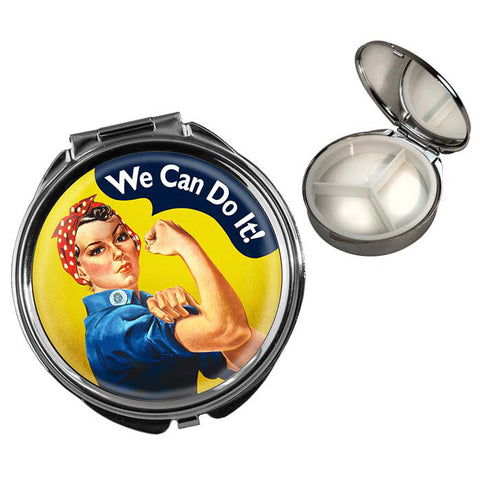 "Legends of WWII Rosie the Riveter ""We Can Do It!"" - Round Pill Box"