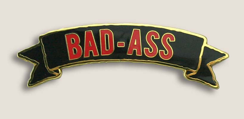 Bad Ass Banner - Enamel Pin | Trixie & Milo