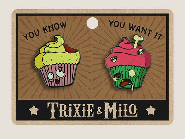 Cupcake Zombie Attack - Enamel Pins Set of 2