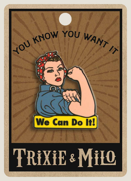 """We Can Do It"" Rosie the Riveter - Enamel Pin"