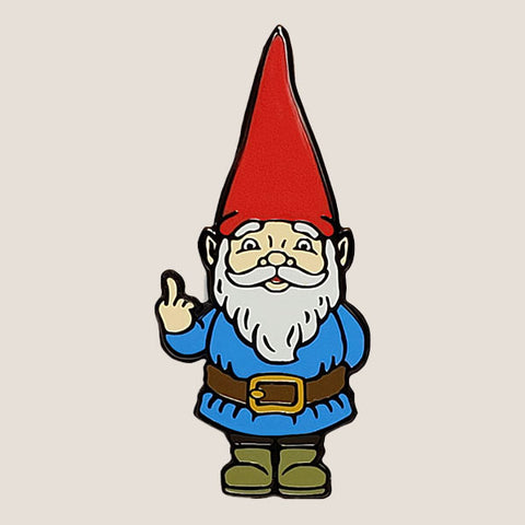Rude Gnome - Enamel Pin