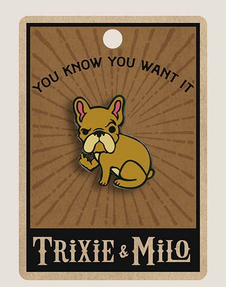 Rude Frenchie - Enamel Pin