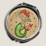 Tattoo Mermaid - Round Pill Box