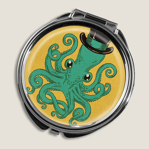 Gentleman Octopus - Round Pill Box