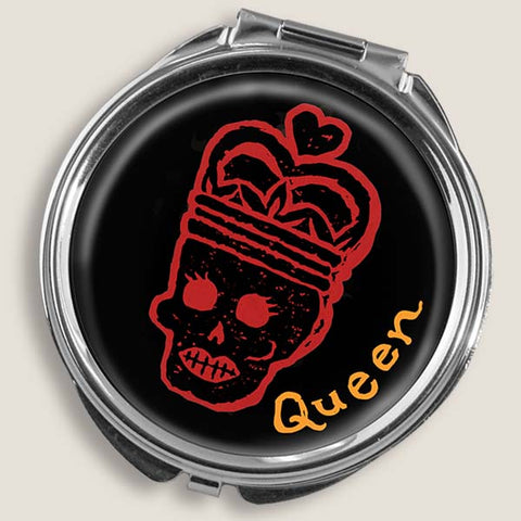 Skull Queen - Round Pill Box