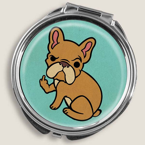 Rude Frenchie - Round Pill Box