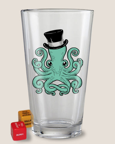 Gentleman Octopus - Party in a Pint Glass