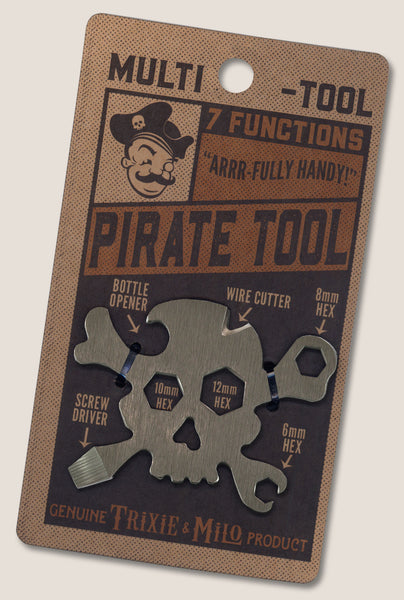 Pirate Multi tool by Trixie & Milo. Great men's gift, key chain tool, multi tool for your pocket