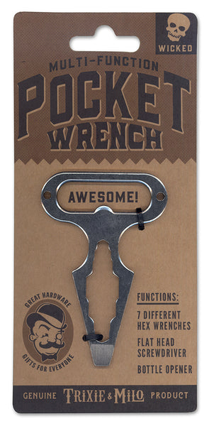 Pocket Wrench by Trixie & Milo. Cycling tool. Tools Man Gift, fits on your key chain