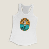 Surfers Paradise by LCKY JACK - Women's Racerback Tank, vintage graphic, mermaid shirt, surfing fashion, home workout top