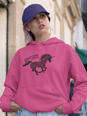 Unicorn Parts - by LCKY JACK (for Trixie & Milo) - Hoodie, Unicorn hoodie, fantasy unicorn design, dreams, love and cupcakes